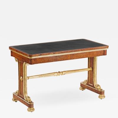 A Fine George IV Amboyna Writing Table