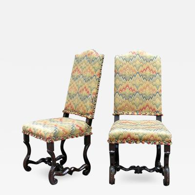 A Fine Pair of 17th c Italian Baroque Carved Chairs