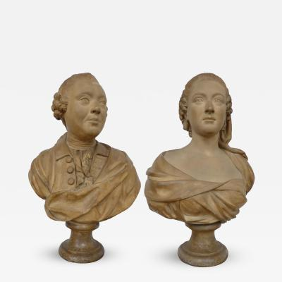 A Fine Pair of French Plaster Busts
