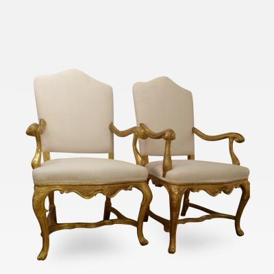 A Fine Pair of Venetian 18th Cent Armchairs