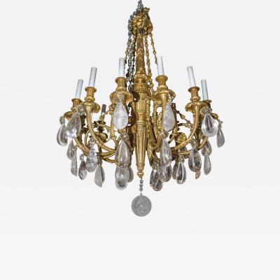 A Fine Quality French Gilt Bronze Twelve Light Chandelier
