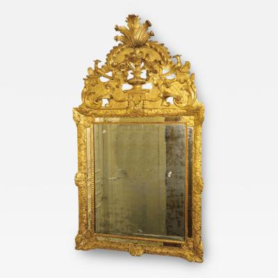 A Fine Regence Carved and Gilded Provencal Mirror