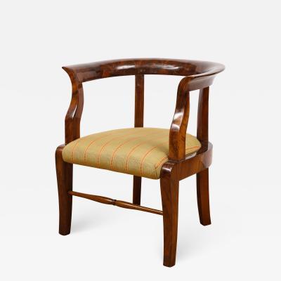 A Fine Walnut Biedermeier Childs Chair