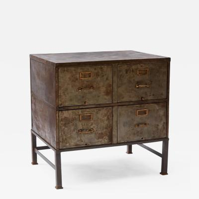 A Four Drawer Metal Cabinet