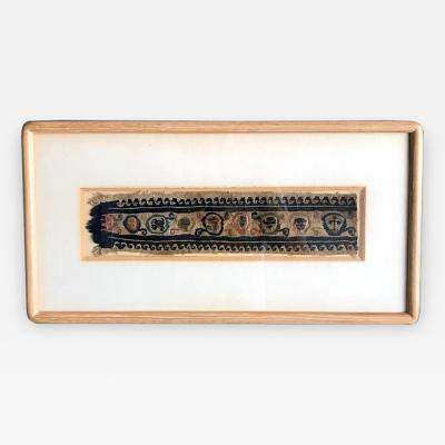 A Framed Antique Coptic Textile