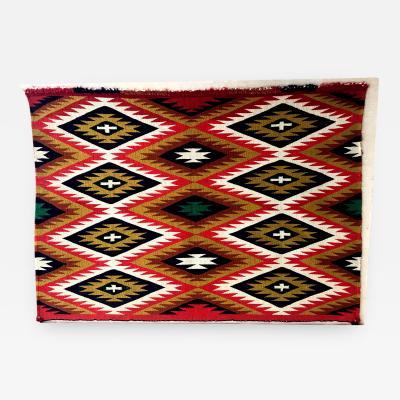 A Framed Navajo Germantown Weaving