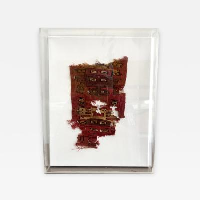 A Framed Pre Columbian Textile Fragment