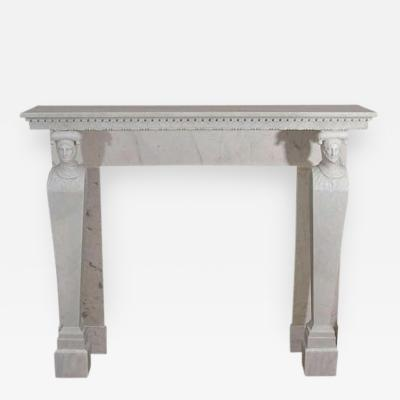 A French Directoire Marble Fireplace Mantel Early 19th century