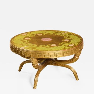 A French Giltwood and Eglomise Cocktail Table