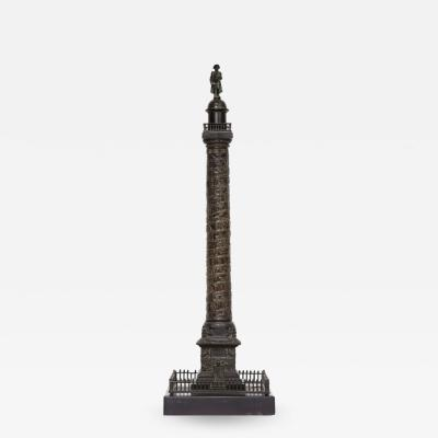 A French Grand Tour Bronze of the Place Vendome in Paris 19th Century