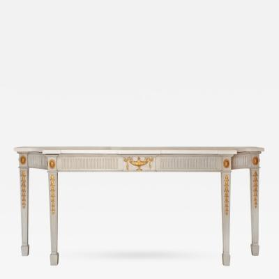 A French Louis XVI Style Marble Top Console Table