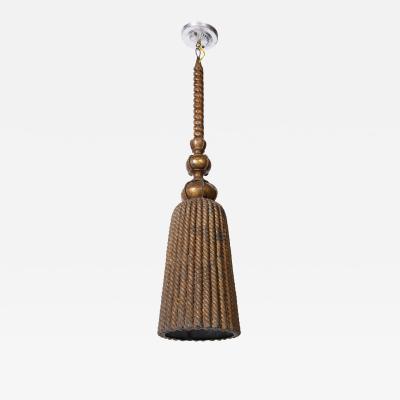 A French Tole Tassel Lantern