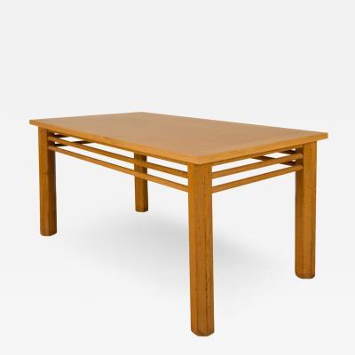 A French rectangular oak table circa 1940