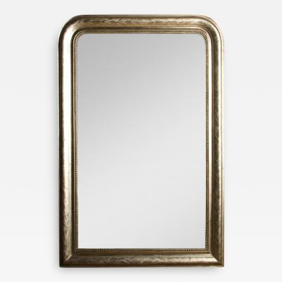 A French silver leaf Louis Philippe mirror circa 1870