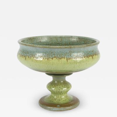 A Freymond ceramic bowl with column base 70s