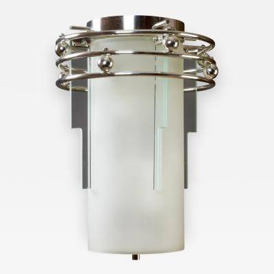 A Frosted and Clear Glass Lantern France 1930s