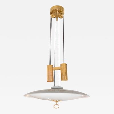 A Gaetano Scoliari Adjustable Height Italian Ceiling Fixture