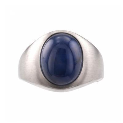 A Gentlemans Estate Blue Star Sapphire Ring