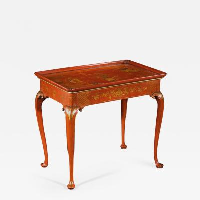 A George I Japanned Center Table