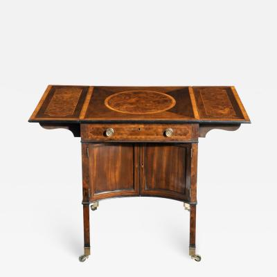 A George III Chippendale style satinwood Pembroke table