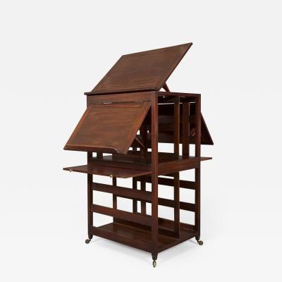 A George III Cuban Mahogany Open Library Folio Cabinet