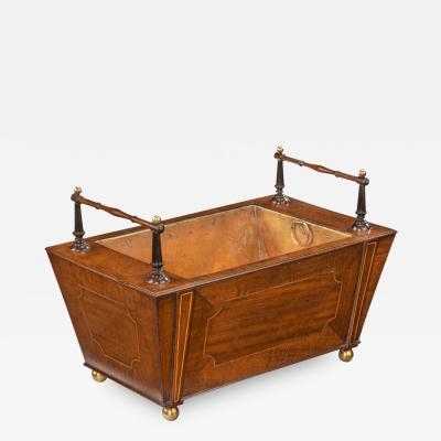 A George III Fiddleback Mahogany Table Jardini re