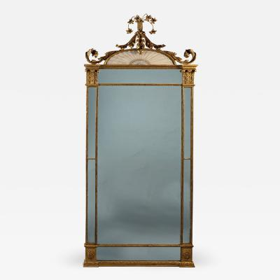 A George III Hepplewhite Period Giltwood Pier Mirror