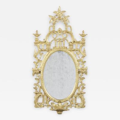 A George III Irish Giltwood Mirror