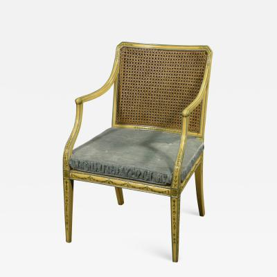 A George III Painted Armchair