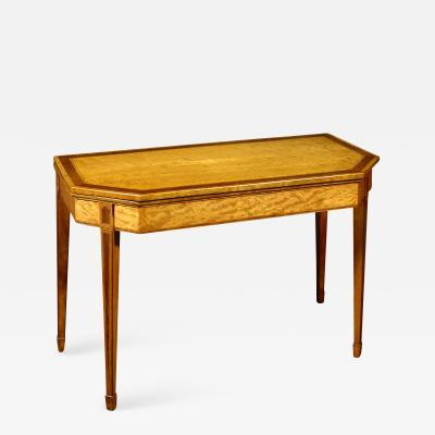 A George III Satinwood Games Table