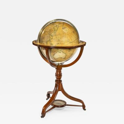 A George IV 18 inch floor standing library globe by John Smith