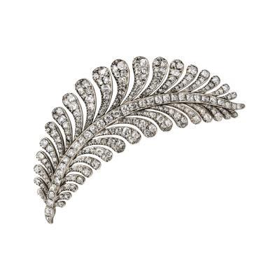 A Georgian Diamond Fern Brooch
