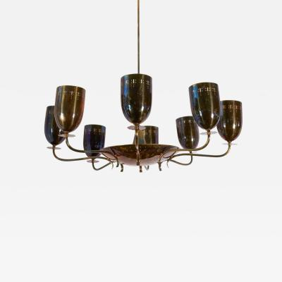 A German Mid Century Modern Eight Arm Chandelier