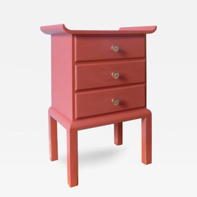 A German New Objectivity Red Lacquer Commode