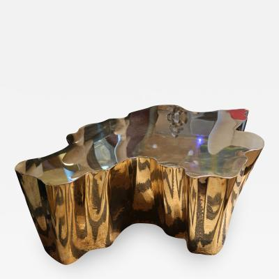 A Gilded Brass Coffee Table Morocco 2015