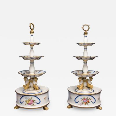 A Good Pair of Paris Porcelain Desert Stands