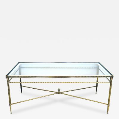 A Good Quality French Neoclassical Style Coffee Table with Glass Top