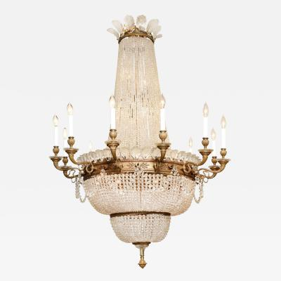 A Grand Scale 12 Light Louis XVI Style Chandelier