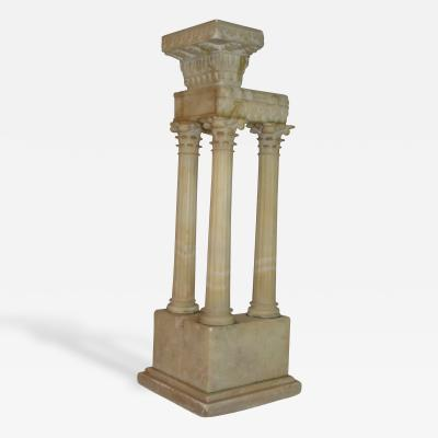 A Grand Tour Alabaster Model of the Temple of Vespasian and Titus