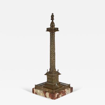 A Grand Tour Bronze Sculpture of the Vendome Column Paris