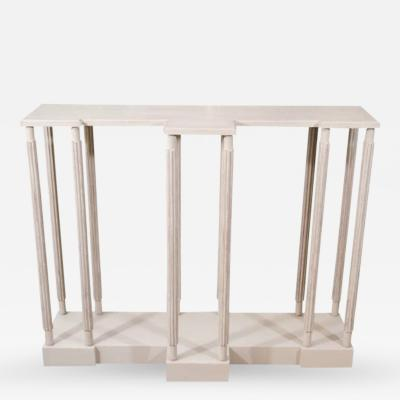 A Grey Painted Model Stand Console Table Designed by Sir John Soane