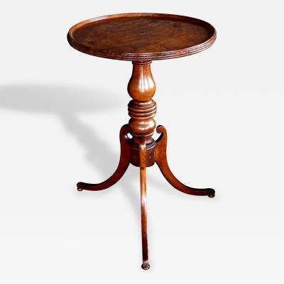 A Handsome English Victorian Beechwood Circular Tripod Side Table