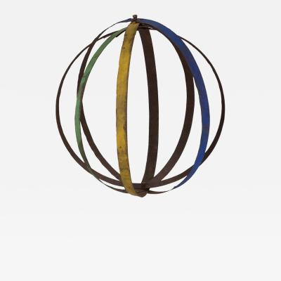 A Hanging Iron Banded Sculpture