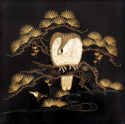 A Japanese needlework of an eagle