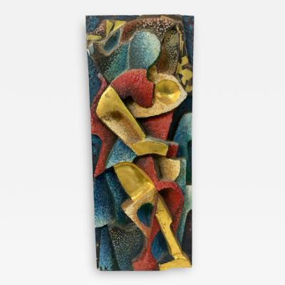 A Krynsky SIGNED ABSTRACT RUSSIAN WALL SCULPTURE