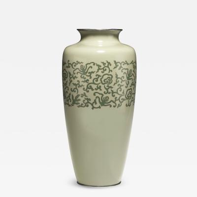 A Large Japanese Cloisonne Vase Meiji Period