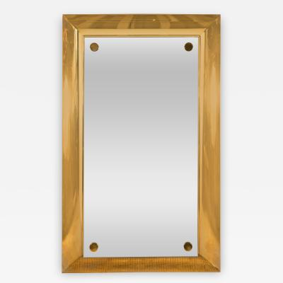 A Large Mirror Mounted on Brass Platform Made to Order