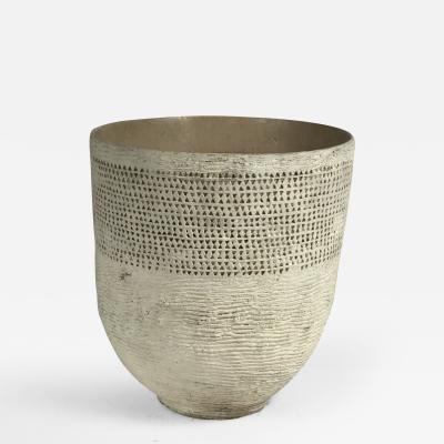 A Large Scarified Ceramic Urn