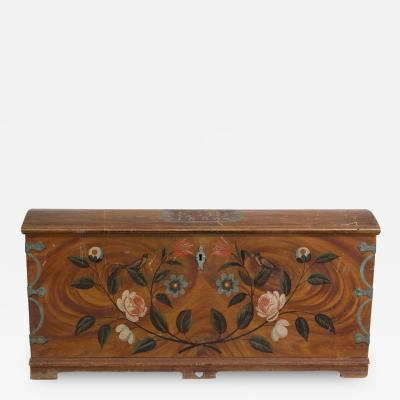 A Large Swedish Painted Marriage Chest dated 1806