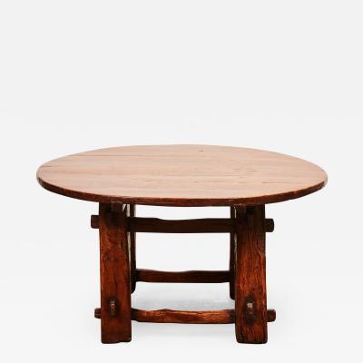 A Late 18th Century Chinese Elm Low Round Table